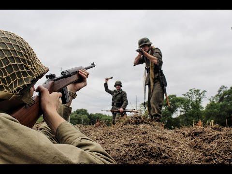 Intense WWII Reenactment Action 08/15/1944
