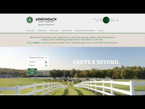 Adirondack Trust Company's New Website