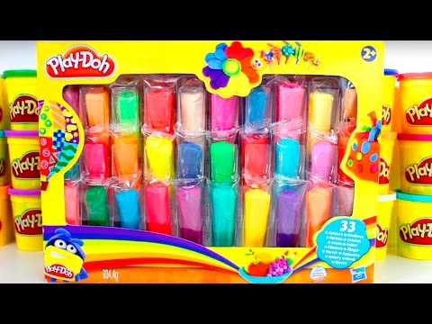 Play Doh Ultimate Rainbow Pack Learn Numbers Play Doh Mountain of Colours Playset Toy Videos