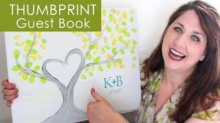 Thumbprint Wedding Guest Book: The DIY Bride