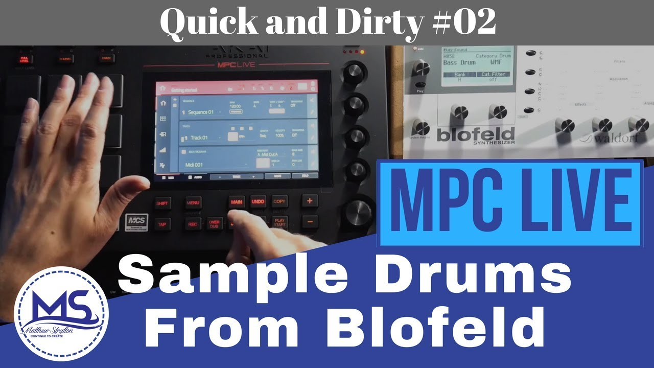 MPC LIVE Sampling Drums from Blofeld Synthesizer (Quick and Dirty #02)