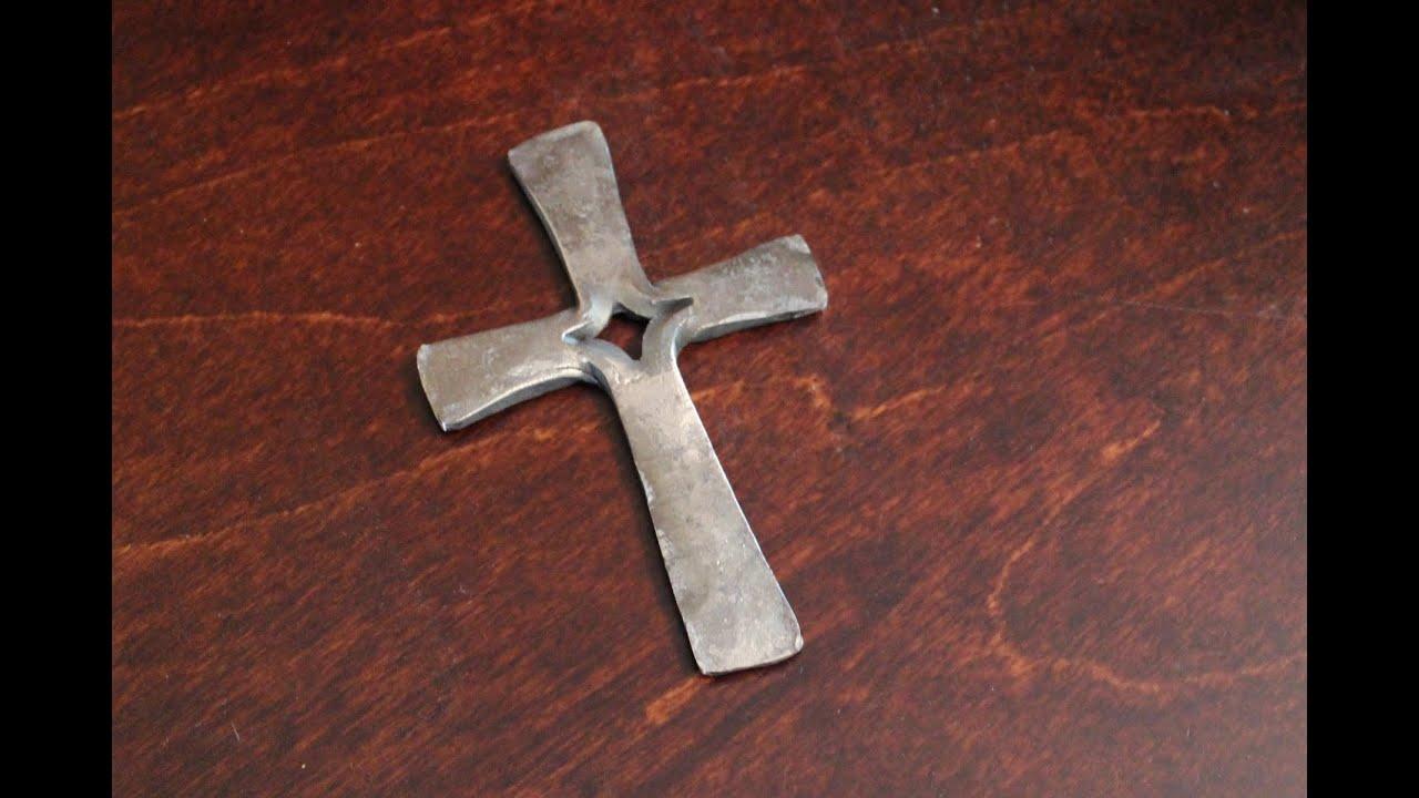 Forging A Cross In A Screwbench