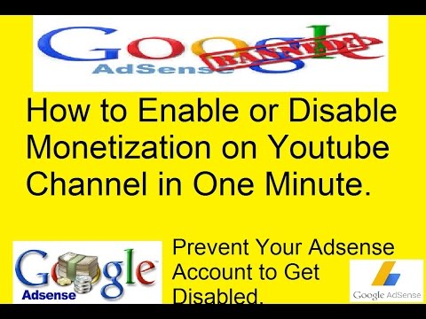 How to Disable Monetization on Youtube Channel ( In Hindi)