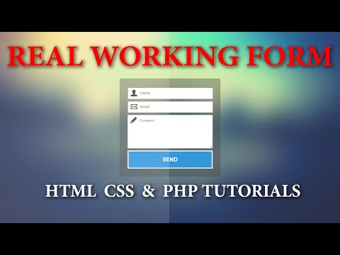 Create Real Working Contact Form Using HTML, CSS, PHP