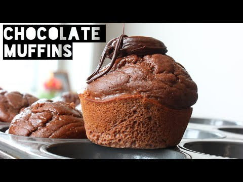 Healthy Chocolate Muffins Recipe | How To Make Low Fat High Protein Chocolate Muffins