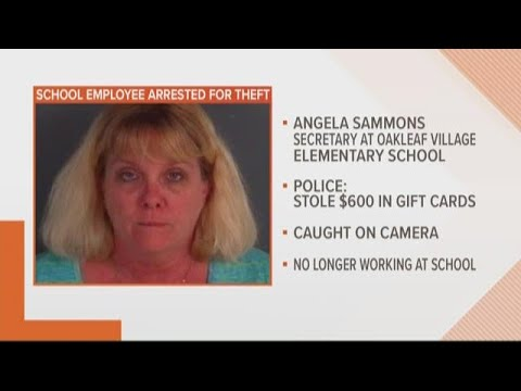 Clay County elementary school secretary arrested after reportedly stealing $600 worth of gift cards