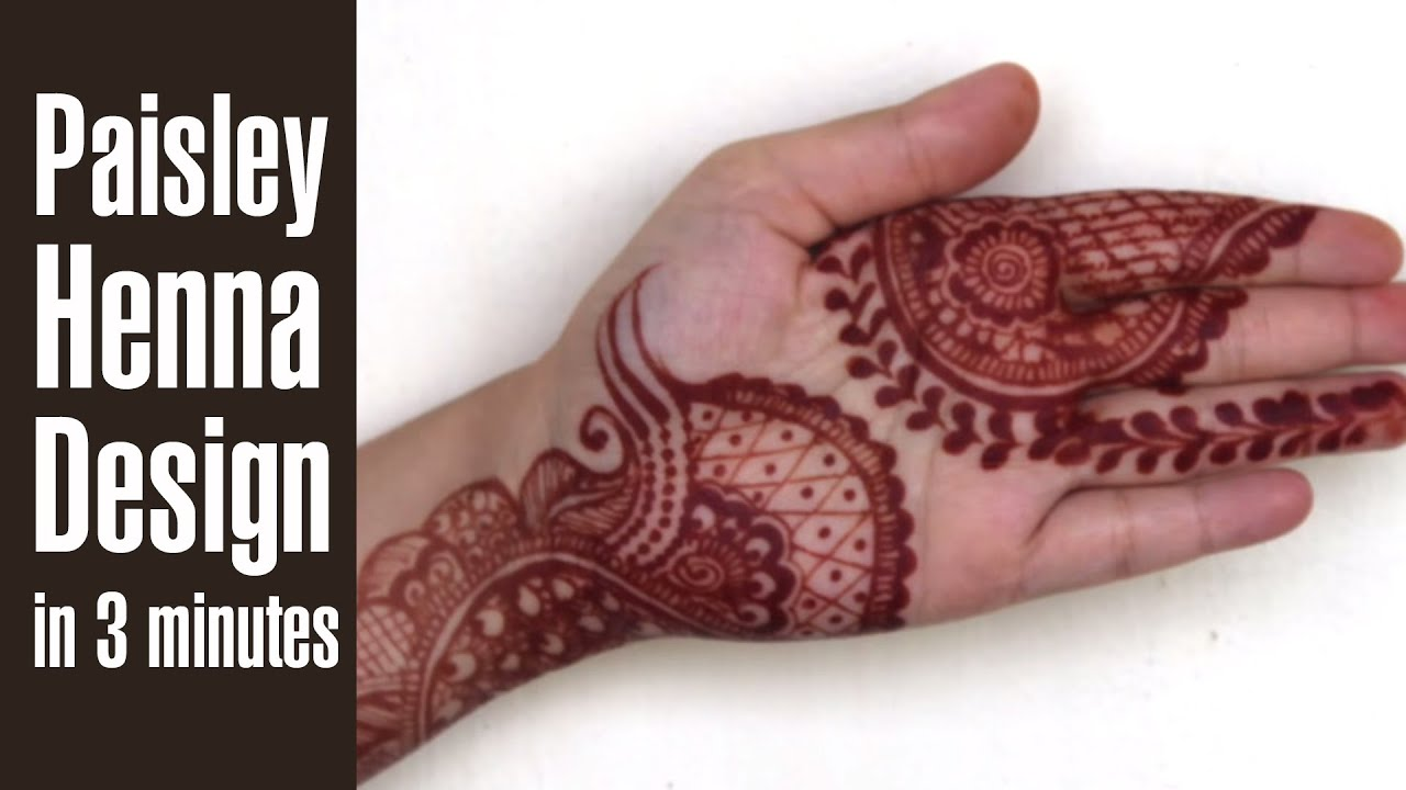 5bdb34b0b How To Make PAISLEY HENNA DESIGNS In Just 3 Minutes - YouTube