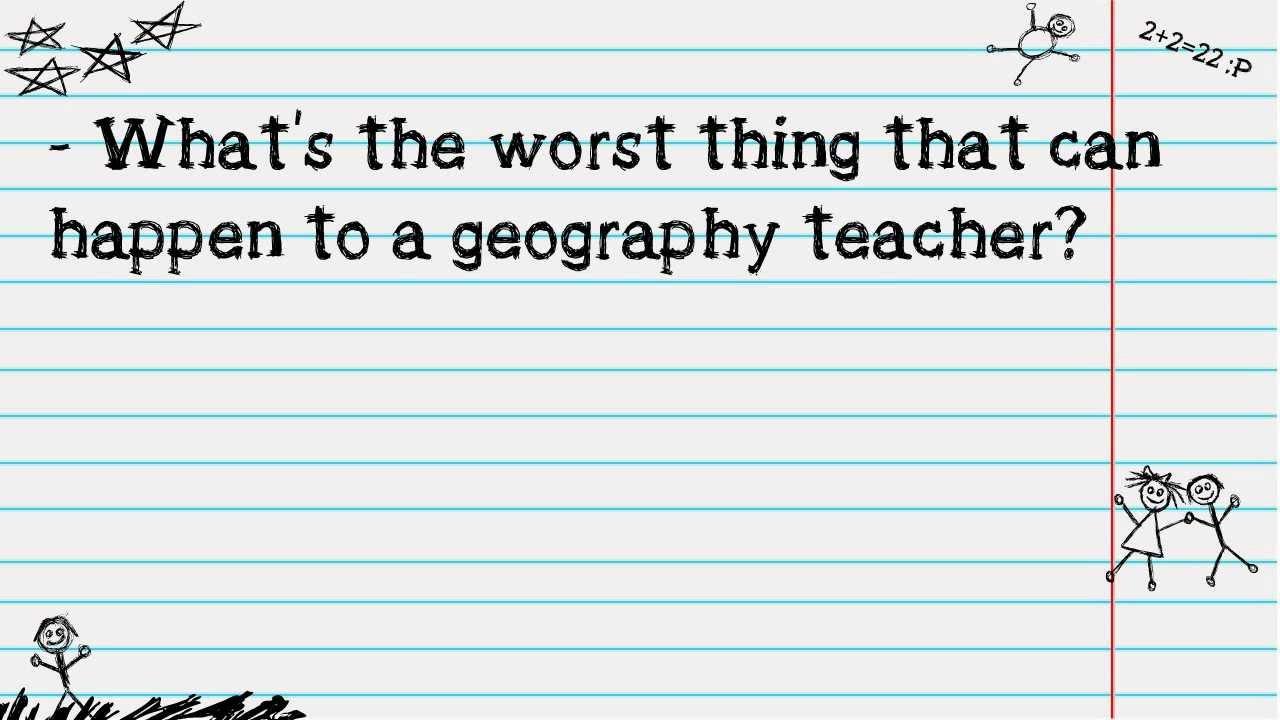 Funny Joke : teacher & geography - YouTube