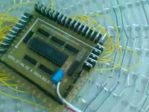 Mach hao quang  co khung 10 LED 1 diem anh
