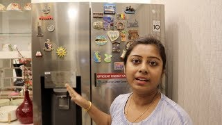 Indian Vlogger Soumali || This is how I spend my Friday || My LG side by side door refrigerator