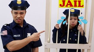 Download Jannie and Emma Learn Good Habit by Pretend Play Police | Police Kids Helps People Mp3 and Videos