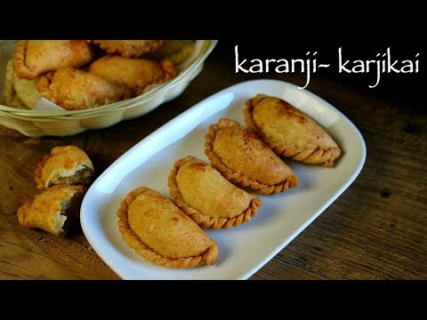 Karanji Recipe - Karjikai Recipe - Karida Kadubu Or Karikadubu Recipe