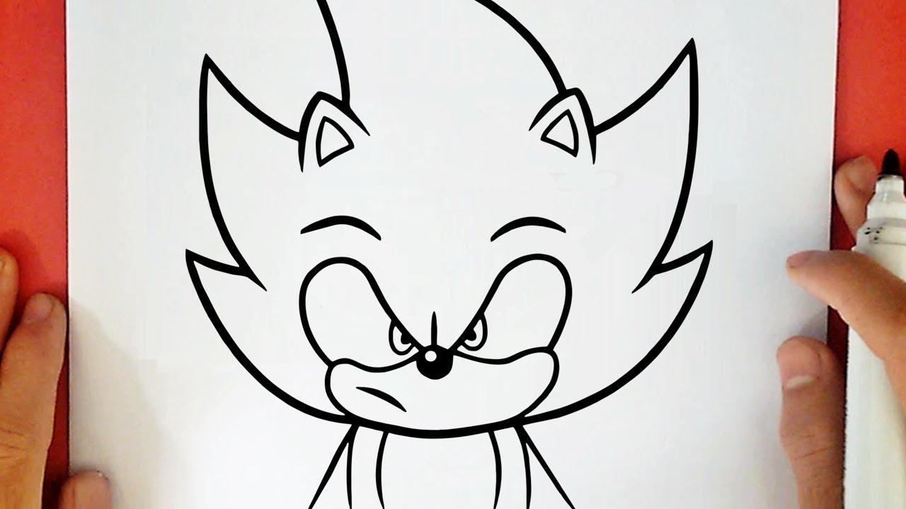 Como Desenhar O Super Sonic Youtube