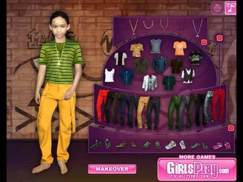 Джейден Смит Игра для детей одевалка
