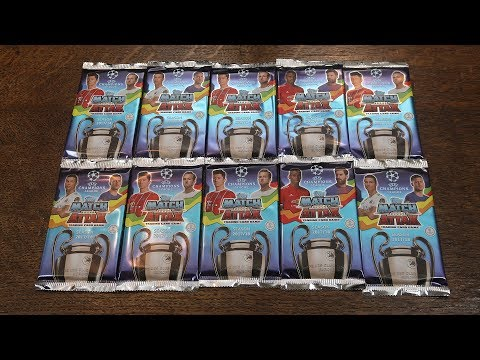 MATCH ATTAX CHAMPIONS LEAGUE 2017/18! 10 Pack Opening - First Look!