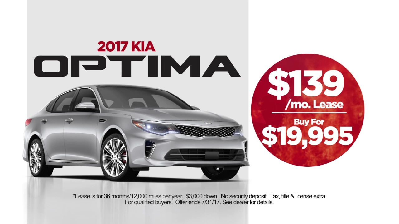 July 2017 Evansville Kia Car Lease Deals