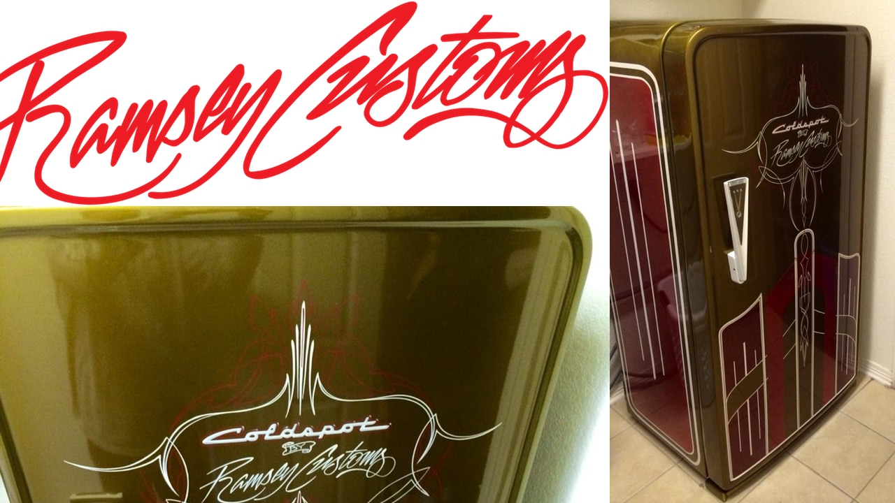 How to paint an old refrigerator - vintage appliance - 1950's Coldspot  Fridge - Hotrod Paint Job
