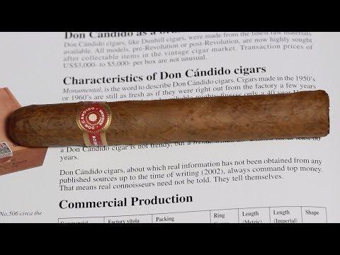 Don Candido Seleccion No  506 Cuban Cigar Review Don Candido Vintage Cigar Unboxing