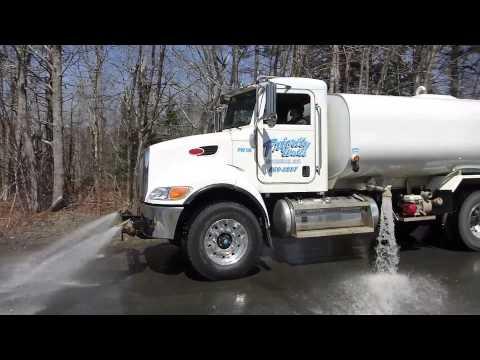 Priority Water's Commercial Bulk Water Truck, in Action - Halifax, Nova Scotia