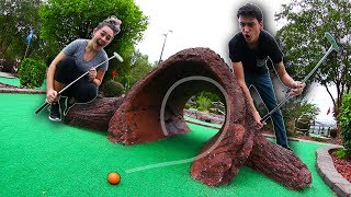 MINI GOLF FACE OFF ROUND 8! | Husband vs. Wife