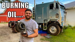 Replacing my 1.1 Million Mile Turbo on the Cabover, Completely SHOT!!!