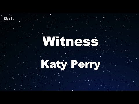 Witness - Katy Perry Karaoke 【No Guide Melody】 Instrumental