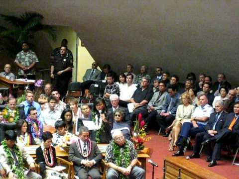 Business Squeeze, Rep. Lynn Finnegan, Opening Day, Hawaii State Legislature, 2009