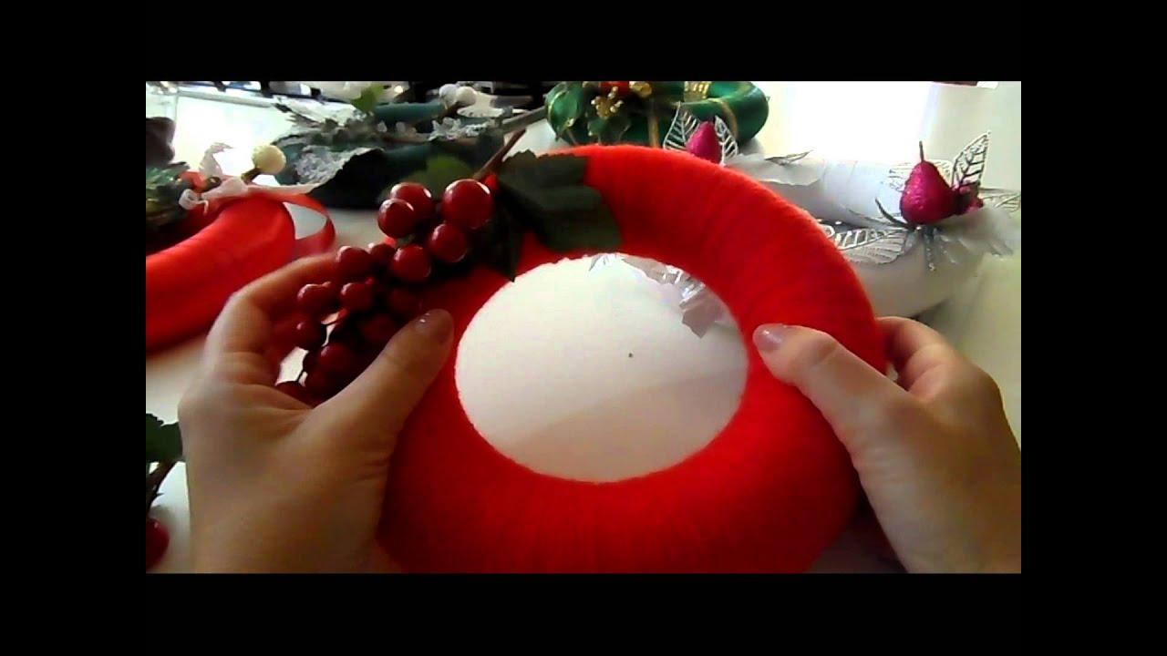Ben noto Tutorial: fuoriporta natalizi facili, ghirlande - YouTube AL61