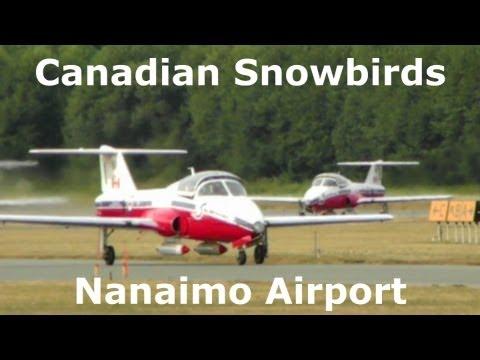 Snowbirds Landing Nanaimo Airport Vancouver Island Canada