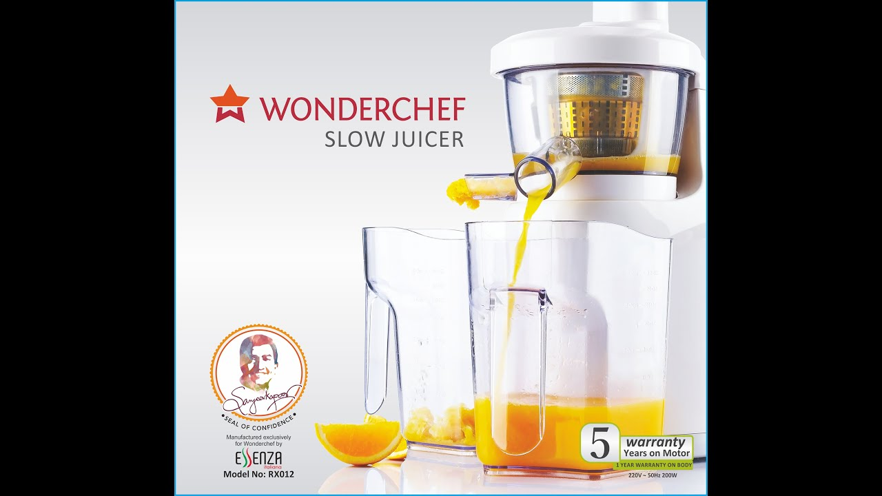 Wonderchef Slow Juicer Digital : Wonderchef Slow Juicer By Chef Sanjeev Kapoor - YouTube
