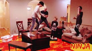 The Floor Is Lava LAVA MONSTER! Ninja Style! / That YouTub3 Family | The Adventurers