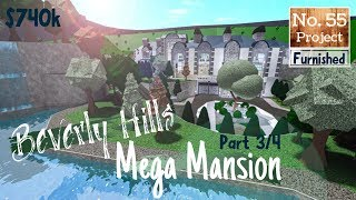 Roblox | BLOXBURG: Beverly Hills Mega Mansion (Speedbuild) [Part 3/4]
