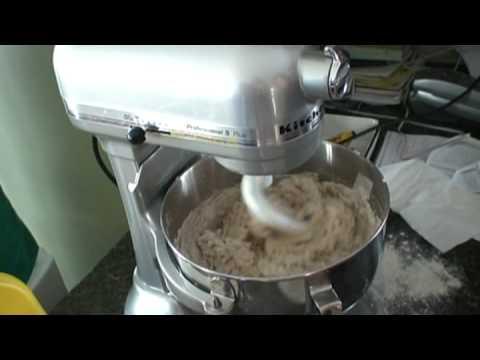 Ivy makes bread dough pt 1