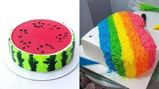 How To Cake Decorating Tutorial for Party   Most Satisfying Chocolate Cake   DIY Cake Decorating
