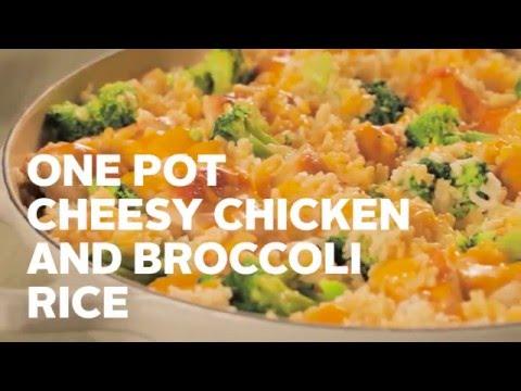VELVEETA One Pot Cheesy Chicken And Broccoli Rice
