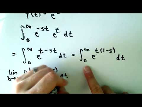 Calculating a Laplace Transform - YouTube