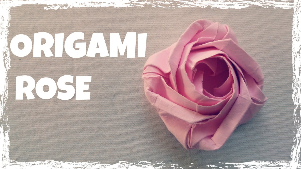Origami facile faire une rose en papier youtube - Origami rose facile a faire ...