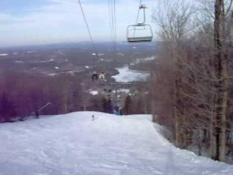 Black Diamond snowboard run Mt.Wachusett