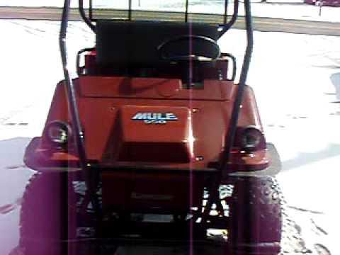 Kawasaki Mule 550 Test Drive Off Road In Snow
