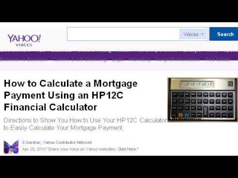 How To Use An Hp 12c Mortgage Calculator Youtube