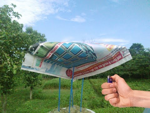 Newspaper spaceship that fly , amazing life hack