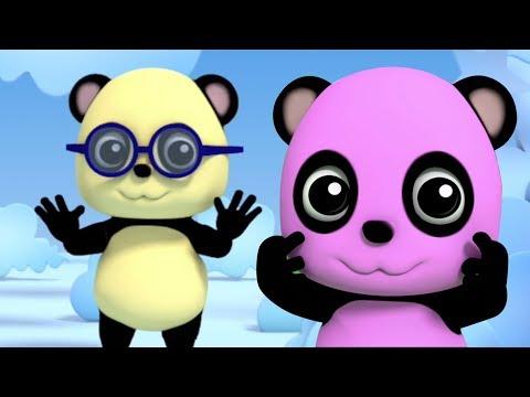 Baby bao Panda | Kopf Schultern Knie | Kinder Lieder | 3D Nursery Rhymes | Head Shoulders Knees