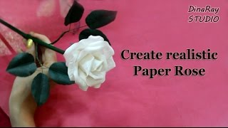 Realistic paper rose
