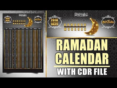 CorelDraw Tutorial - How to Make Ramadan Calendar Design With CDR File Free