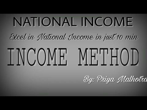 Income method of National Income| National Income Macro Economics class XII| National Income