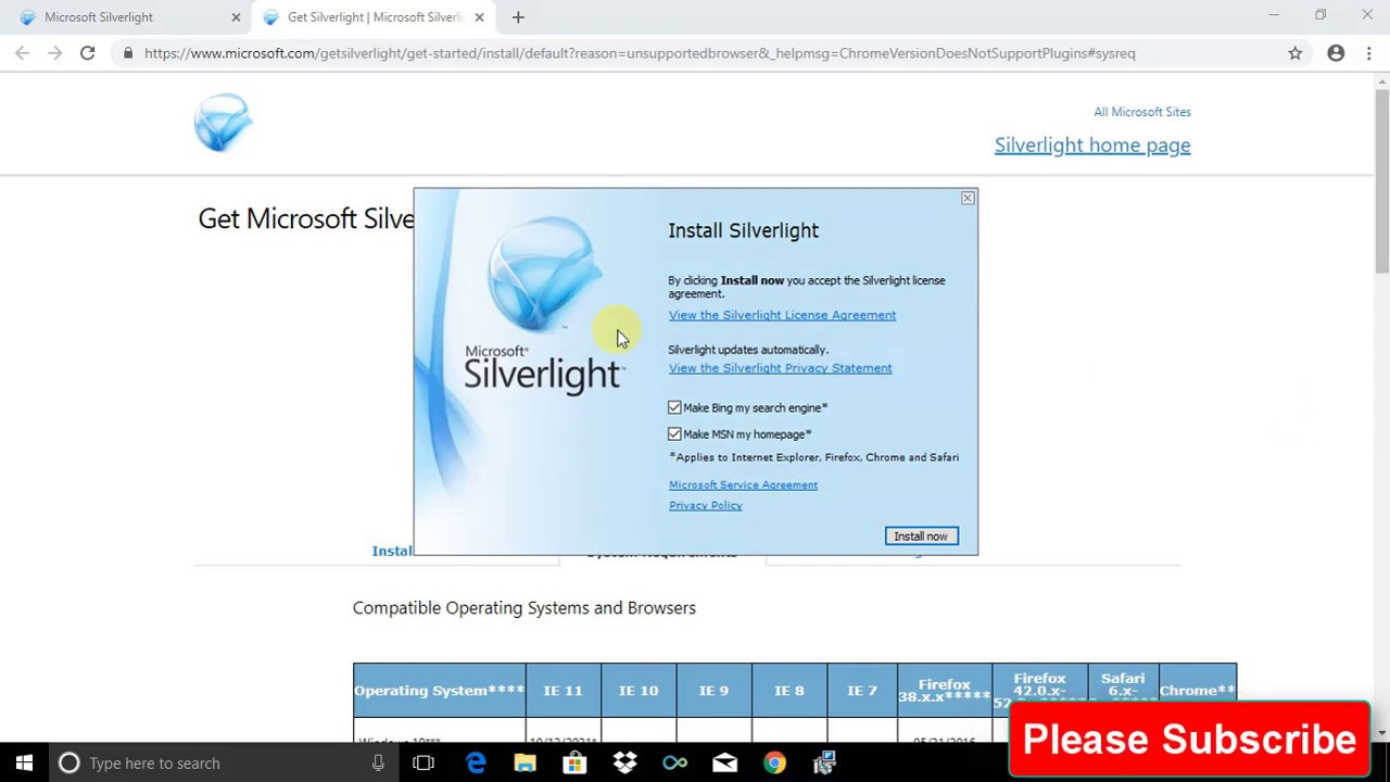 SILVERLIGHT 8.1 TÉLÉCHARGER WINDOWS