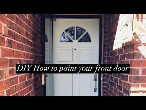 DIY How to paint your front door