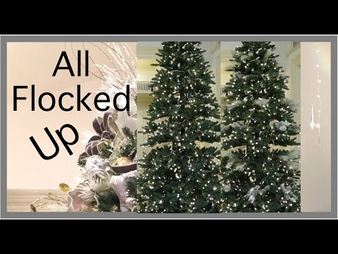 Christmas decorations easy way to flock a christmas tree youtube christmas decorations easy way to flock a christmas tree solutioingenieria