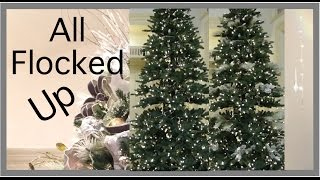 Christmas Decorating 2016  | EASY way to Flock a Christmas Tree
