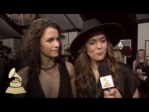 Brandi Carlile with Tyler Oakley | Red Carpet | 58th GRAMMYs